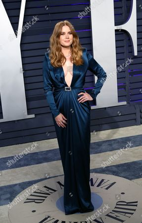 Stock Image of Amy Adams poses at the 2019 Vanity Fair Oscar Party following the 91th annual Academy Awards ceremony, in Beverly Hills, California, USA, 24 February 2019. The Oscars are presented for outstanding individual or collective efforts in 24 categories in filmmaking. The Oscars are presented for outstanding individual or collective efforts in 24 categories in filmmaking.