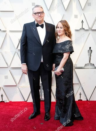 Best Director nominee and Best Original Screenplay nominee for 'Vice' Adam McKay and wife Shira Piven arrive for the 91st annual Academy Awards ceremony at the Dolby Theatre in Hollywood, California, USA, 24 February 2019. The Oscars are presented for outstanding individual or collective efforts in 24 categories in filmmaking.