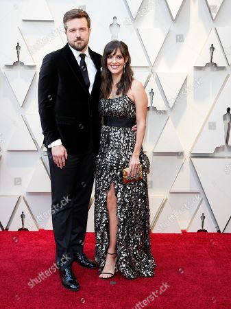 Stock Image of Will Fetters and guest arrive for the 91st annual Academy Awards ceremony at the Dolby Theatre in Hollywood, California, USA, 24 February 2019. The Oscars are presented for outstanding individual or collective efforts in 24 categories in filmmaking.