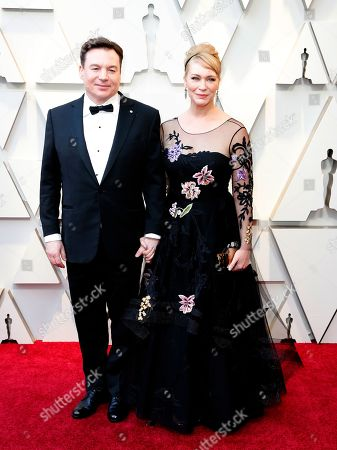 Stock Photo of Mike Myers (L) and wife Kelly Tisdale arrive for the 91st annual Academy Awards ceremony at the Dolby Theatre in Hollywood, California, USA, 24 February 2019. The Oscars are presented for outstanding individual or collective efforts in 24 categories in filmmaking.