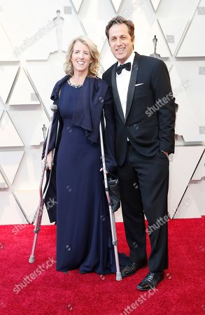 Academy governor Rory Kennedy (L) and her husband Mark Bailey (R) arrive for the 91st annual Academy Awards ceremony at the Dolby Theatre in Hollywood, California, USA, 24 February 2019. The Oscars are presented for outstanding individual or collective efforts in 24 categories in filmmaking.