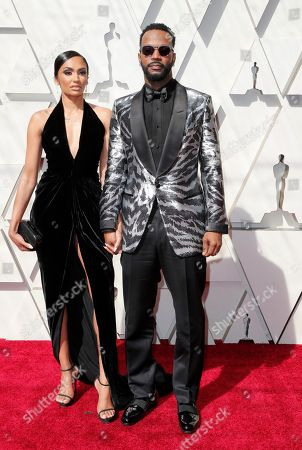 Stock Image of Regina Perera (L) and her husband rapper Juicy J (R) arrive for the 91st annual Academy Awards ceremony at the Dolby Theatre in Hollywood, California, USA, 24 February 2019. The Oscars are presented for outstanding individual or collective efforts in 24 categories in filmmaking.