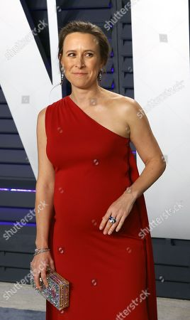 Anne Wojcicki poses at the 2019 Vanity Fair Oscar Party following the 91st annual Academy Awards ceremony, in Beverly Hills, California, USA, 24 February 2019. The Oscars are presented for outstanding individual or collective efforts in 24 categories in filmmaking. The Oscars are presented for outstanding individual or collective efforts in 24 categories in filmmaking.