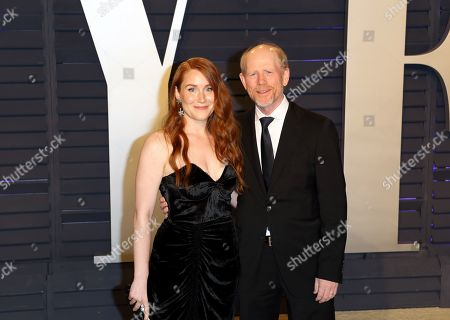 Paige Howard (L) and Ron Howard (R) poses at the 2019 Vanity Fair Oscar Party following the 91st annual Academy Awards ceremony, in Beverly Hills, California, USA, 24 February 2019. The Oscars are presented for outstanding individual or collective efforts in 24 categories in filmmaking. The Oscars are presented for outstanding individual or collective efforts in 24 categories in filmmaking.