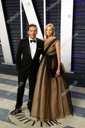 Lachlan Murdoch (L) and Sarah Murdoch pose at the 2019 Vanity Fair Oscar Party following the 91st annual Academy Awards ceremony, in Beverly Hills, California, USA, 24 February 2019. The Oscars are presented for outstanding individual or collective efforts in 24 categories in filmmaking. The Oscars are presented for outstanding individual or collective efforts in 24 categories in filmmaking.