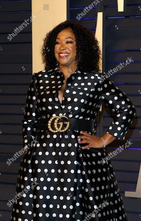 Shonda Rhimes poses at the 2019 Vanity Fair Oscar Party following the 91st annual Academy Awards ceremony, in Beverly Hills, California, USA, 24 February 2019. The Oscars are presented for outstanding individual or collective efforts in 24 categories in filmmaking. The Oscars are presented for outstanding individual or collective efforts in 24 categories in filmmaking.