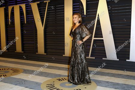 Vanity Fair's West Coast editor Krista Smith poses at the 2019 Vanity Fair Oscar Party following the 91st annual Academy Awards ceremony, in Beverly Hills, California, USA, 24 February 2019. The Oscars are presented for outstanding individual or collective efforts in 24 categories in filmmaking. The Oscars are presented for outstanding individual or collective efforts in 24 categories in filmmaking.
