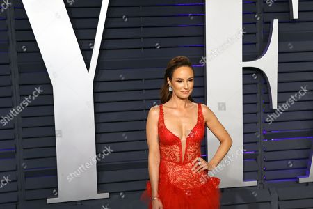 Catt Sadler poses at the 2019 Vanity Fair Oscar Party following the 91st annual Academy Awards ceremony, in Beverly Hills, California, USA, 24 February 2019. The Oscars are presented for outstanding individual or collective efforts in 24 categories in filmmaking. The Oscars are presented for outstanding individual or collective efforts in 24 categories in filmmaking.
