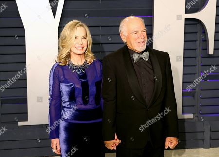 Jimmy Buffett and Jane Slagsvol pose at the 2019 Vanity Fair Oscar Party following the 91st annual Academy Awards ceremony, in Beverly Hills, California, USA, 24 February 2019. The Oscars are presented for outstanding individual or collective efforts in 24 categories in filmmaking. The Oscars are presented for outstanding individual or collective efforts in 24 categories in filmmaking.