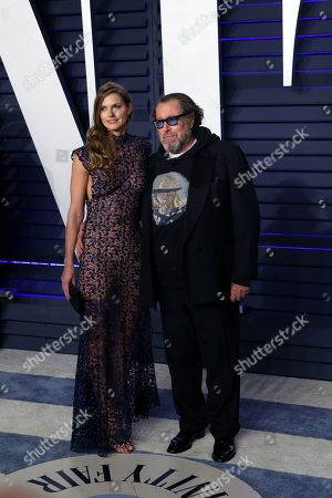 Louise Kugelberg and Julian Schnabel poses at the 2019 Vanity Fair Oscar Party following the 91st annual Academy Awards ceremony, in Beverly Hills, California, USA, 24 February 2019. The Oscars are presented for outstanding individual or collective efforts in 24 categories in filmmaking. The Oscars are presented for outstanding individual or collective efforts in 24 categories in filmmaking.