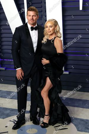 Stock Photo of David Boreanaz (L) and Jaime Bergman attend the 2019 Vanity Fair Oscar Party following the 91st annual Academy Awards ceremony, in Beverly Hills, California, USA, 24 February 2019. The Oscars are presented for outstanding individual or collective efforts in 24 categories in filmmaking.
