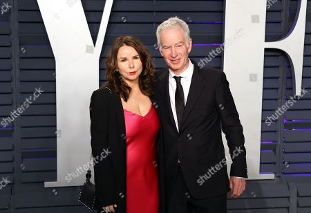 Patty Smyth (L) and John McEnroe (R) poses at the 2019 Vanity Fair Oscar Party following the 91st annual Academy Awards ceremony, in Beverly Hills, California, USA, 24 February 2019. The Oscars are presented for outstanding individual or collective efforts in 24 categories in filmmaking. The Oscars are presented for outstanding individual or collective efforts in 24 categories in filmmaking.
