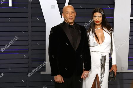 Vin Diesel and wife Paloma Jimenez attend the 2019 Vanity Fair Oscar Party following the 91st annual Academy Awards ceremony, in Beverly Hills, California, USA, 24 February 2019. The Oscars are presented for outstanding individual or collective efforts in 24 categories in filmmaking.
