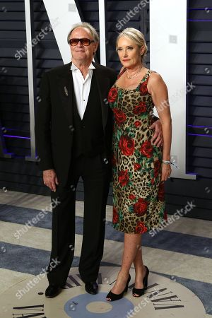 Stock Photo of Peter Fonda (L) and Parky Fonda attend the 2019 Vanity Fair Oscar Party following the 91st annual Academy Awards ceremony, in Beverly Hills, California, USA, 24 February 2019. The Oscars are presented for outstanding individual or collective efforts in 24 categories in filmmaking.