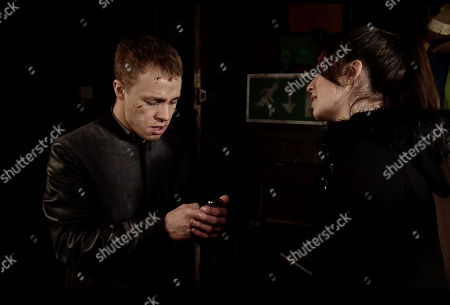 Ep 9705 & 9706 Friday 1st March 2019 A police negotiator calls Clayton Hibbs', as played by Callum Harrison, phone and he tells them he has taken Shona Ramsey, as played by Julia Goulding, hostage.
