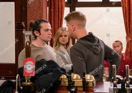 Ep 9718 & 9719 Friday 15th March 2019 As Gary Windass, as played by Mikey North, pulls out a wad of cash, claiming he was paid upfront for a job, Sarah Platt's, as played by Tina O'Brien, pleased. Seb Franklin, as played by Harry Visinoni, blames Gary for sacking him and eyes him with contempt as he flashes his cash in the Rovers. Seb storms out, vowing to teach Gary a lesson. With Kirk Sutherland, as played by Andy Whyment.
