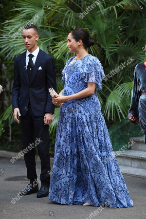 Meghan Duchess of Sussex is greeted by Crown Prince Moulay Hassan at the King's Residence