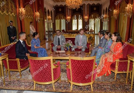 Prince Harry, Meghan Duchess of Sussex, Prince Moulay Hassan