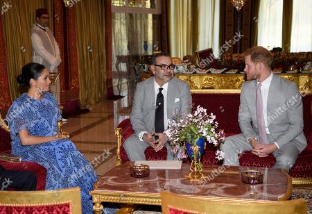 Prince Harry, Meghan Duchess of Sussex, Prince Moulay Hassan, King Mohammed VI