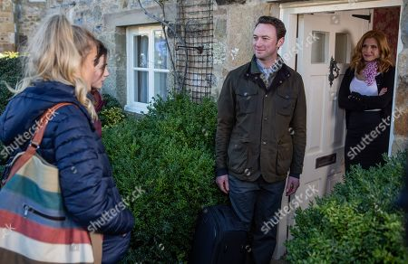 Ep 8416 Wednesday 13th March 2019 Bernice Blackstock, as played by Samantha Giles, moves an excited Liam Cavanagh, as played by Jonny McPherson, in to Brook Cottage, whilst Gabby Thomas, as played by Rosie Bentham, and Leanna Cavanagh, as played by Mimi Slinger, are horrified they'll be sharing rooms.