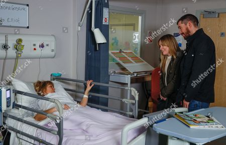 Ep 8414 Monday 11th March 2019 Pete and Vanessa await news on Rhona. After her operation as a groggy Rhona Goskirk, as played by Zoe Henry, comes round, Pete Barton, as played by Anthony Quinlan, is insistent that he loves her, and her and Leo are all the family he needs. But can he win Rhona back? With Vanessa Woodfield, as played by Michelle Hardwick.