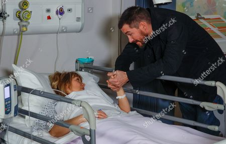 Ep 8414 Monday 11th March 2019 Pete and Vanessa await news on Rhona. After her operation as a groggy Rhona Goskirk, as played by Zoe Henry, comes round, Pete Barton, as played by Anthony Quinlan, is insistent that he loves her, and her and Leo are all the family he needs. But can he win Rhona back?