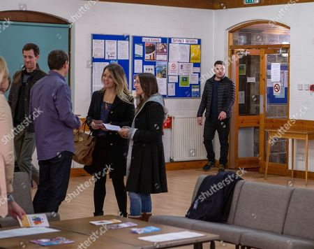 Ep 8408 Monday 4th March 2019 Aaron Dingle, as played by Danny Miller, ends up attends a surrogacy meeting alone when Robert fails to show due to meeting a new client.