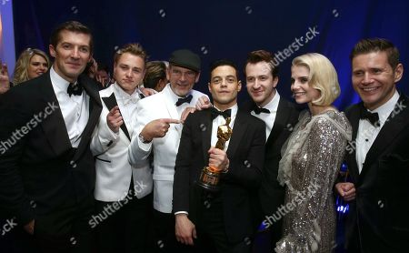Stock Photo of Gwilym Lee, Ben Hardy, Jim Beach, Rami Malek, Joseph Mazzello, Lucy Boynton, Allen Leech