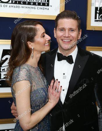 Jessica Blair Herman and Allen Leech