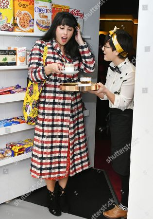Editorial image of Melissa Hemsley Fairtrade Foundation's Secret Hot Chocolate Salon photocall, London, UK - 25 Feb 2019