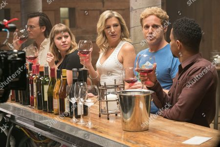 Whitmer Thomas as Flynn, Emily Althaus as Mariel, Lucy Montgomery as Katharine, Chris Geere as Jimmy and Craig Frank as Charlie