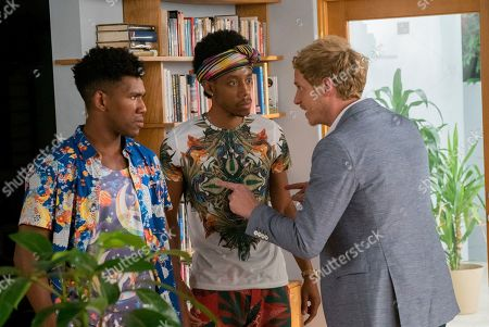 Brandon Mychal Smith as Sam, Darrell Britt-Gibson as Shitstain and Chris Geere as Jimmy