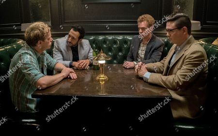 Chris Geere as Jimmy, Desmin Borges as Edgar, Todd Robert Anderson as Vernon and Allan McLeod as Paul