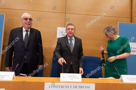 Jean-Pierre Sueur Co-rapporteurs of the Senate commision with President of France's Senate Law Commission Philippe Bas and Muriel Jourda release the results of the Senate Law Investigation about scandal Benalla