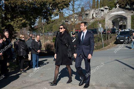 Alena Seredova attends to the funeral of Marella Agnelli Caracciolo in the Church of San Pietro at Vincoli in Villar Perosa (Turin)