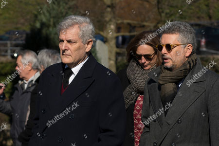Alain Elkann attends to the Funeral of Marella Agnelli Caracciolo in the Church of San Pietro in Vincoli at Villar Perosa (Turin)