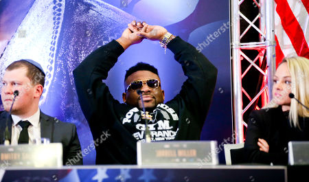 Editorial picture of Anthony Joshua & Jarrell Miller Press Conference, Boxing, Hilton Hotel, Syon House, Isleworth, London, UK - 25 Feb 2019