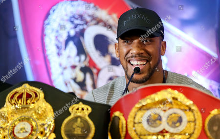 Stock Photo of Anthony Joshua - Anthony Joshua & Jarrell Miller Press Conference ahead of their fight at Madison Square Garden on 01/06/2019 Anthony Joshua & Jarrell Miller Press Conference ahead of their fight on 01/06/2019 at Madison Square Garden.