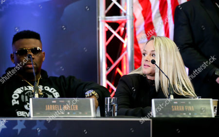 Sarah Fina (R) - Anthony Joshua & Jarrell Miller Press Conference ahead of their fight at Madison Square Garden on 01/06/2019 Anthony Joshua & Jarrell Miller Press Conference ahead of their fight on 01/06/2019 at Madison Square Garden.
