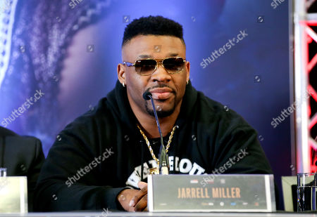 Jarrell Miller - Anthony Joshua & Jarrell Miller Press Conference ahead of their fight at Madison Square Garden on 01/06/2019 Anthony Joshua & Jarrell Miller Press Conference ahead of their fight on 01/06/2019 at Madison Square Garden.