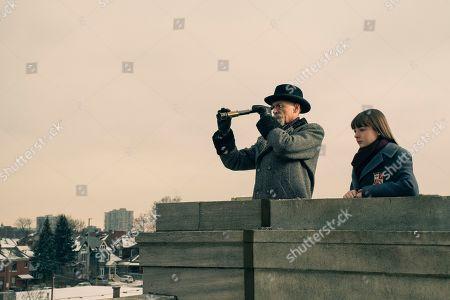 Colm Feore as Sir Reginald Hargreeves and T.J. McGibbon as Young Vanya