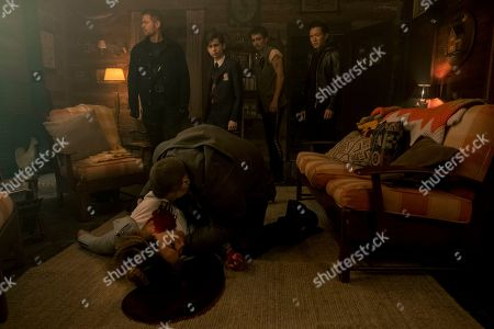 David Castaneda as Diego Hargreeves, Emmy Raver-Lampman as Allison Hargreeves, Tom Hopper as Luther Hargreeves, Aidan Gallagher as Number Five, Robert Sheehan as Klaus Hargreeves and Justin H. Min as Ben Hargreeves