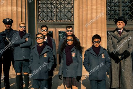 Cameron Brodeur as Young Luther, Aidan Gallagher as Number Five, Blake Talabis as Young Diego, Dante Albidone as Young Klaus, Eden Cupid as Young Allison, Ethan Hwang as Young Ben and Colm Feore as Sir Reginald Hargreeves