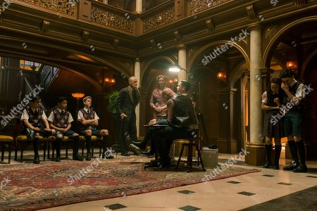 Aidan Gallagher as Number Five, Ethan Hwang as Young Ben, Cameron Brodeur as Young Luther, Colm Feore as Sir Reginald Hargreeves, Jordan Claire Robbins as Grace, Blake Talabis as Young Diego, Eden Cupid as Young Allison and Dante Albidone as Young Klaus