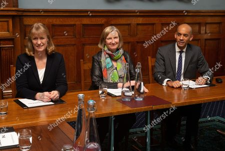 Joan Ryan, Sarah Wollaston and Chuka Umunna.  First official meeting of The Independent Group at The institute of civil Engineers at Great George Street.  8 Labour MPs and three Conservative MPs have formed a new group. They follow a more Centrist form of Politics.