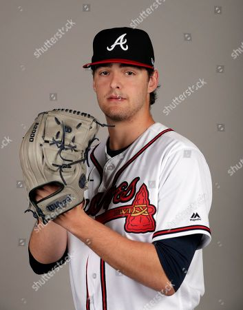 This is a 2019 photo of Ian Anderson of the Atlanta Braves baseball team. This image reflects the 2019 active roster as of, when this image was taken