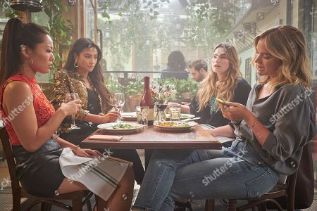 Nicole Kang as Lynn Lieser, Shay Mitchell as Peach Salinger, Kathryn Gallagher as Annika Atwater and Elizabeth Lail as Guinevere Beck