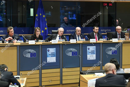 Editorial photo of BUDG Committee Press, Brussels, Belgium - 18 Feb 2019