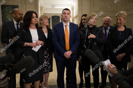 (from left) Chuka Umunna, Heidi Allen, Joan Ryan, Gavin Shuker, Ann Coffey, Luciana Berger, Anna Soubry, Mike Gapes and Angela Smith