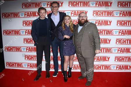 Stock Image of Jack Lowden, Stephen Merchant, Florence Pugh and Nick Frost